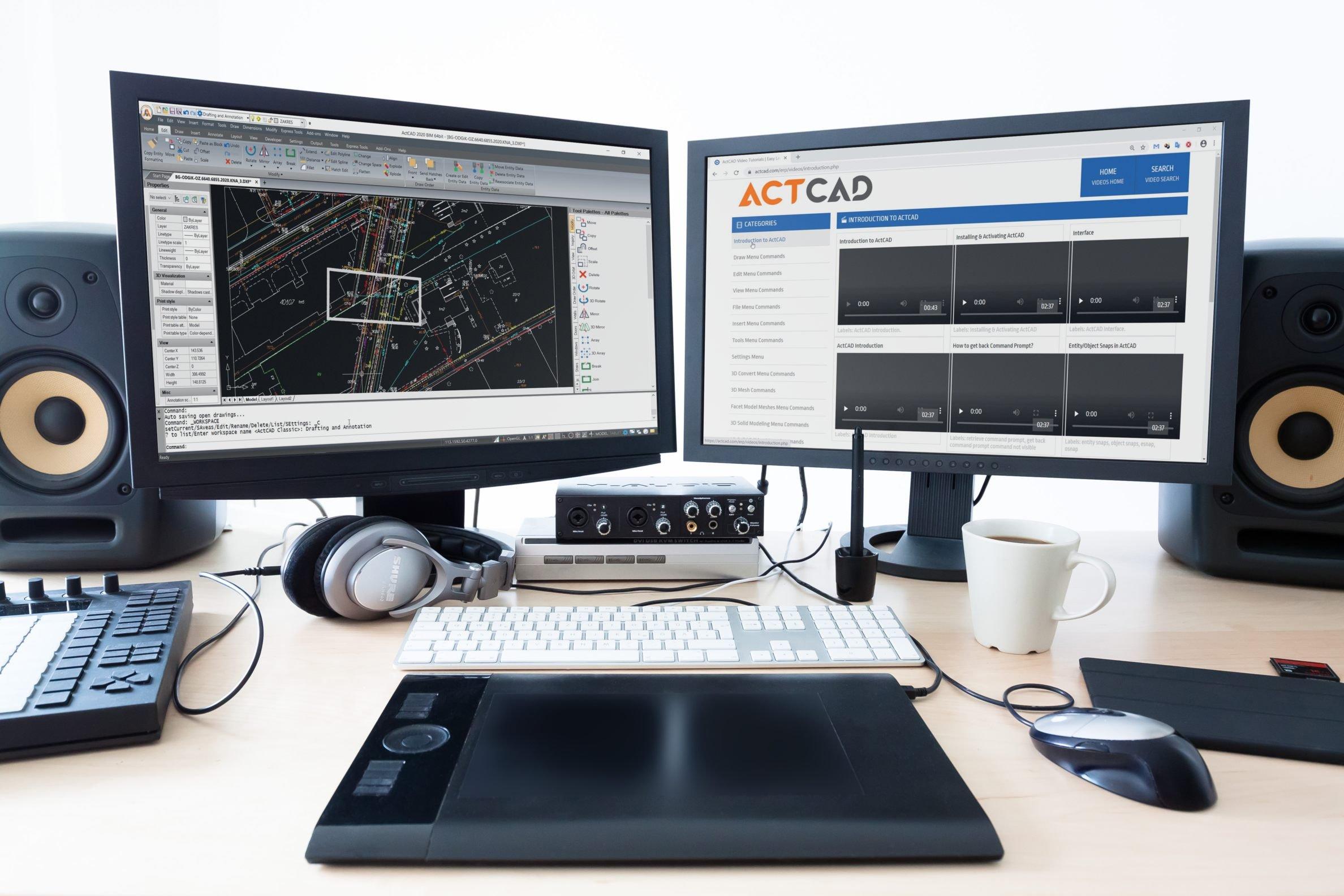 ActCAD Dual screen