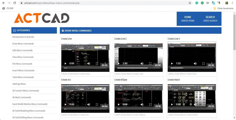 ActCAD tutorials